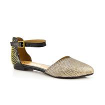 Sandalias Zapatos Mujer Sailak Bajas Doradas La Leopolda