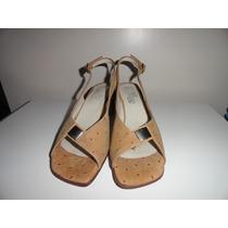 Sandalias Cuero Zapatos Mujer Nuevo 35