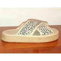 Sandalias Zapatos Ojotas Con Plataforma Nº 39