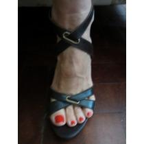 Zara Espectaculares Sandalias Cuero 36