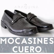 Zapato Mocasin Cuero Hombre Caballero Clásico - Araquina -