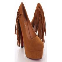 Zapatos Mujer Importados Cerrado Plataforma Suela Flecos