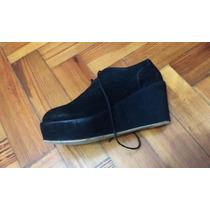 Zapatos Cerrados Con Plataforma Nro. 35