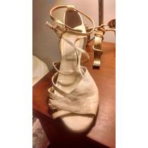 Zapatos, Sandalias De Cuero Para Novia Y/o Fiesta