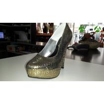 Zapato Fiesta Color Oro...