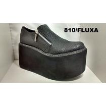 Zapatos Cerrados Cuero Con Plataforma Fluxa 810