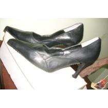 Zapatos De Vestir De Cuero De Dama Morena Nuevos Nº39