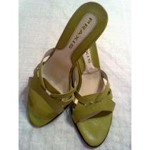 Sandalias Verdes.nº 36.taco Acrilico.