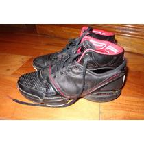 Zapatillas Cuero De Marca Negras Nro. 38