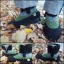 Botas Tejidas En Crochet De Media Caña. Suela De Pvc