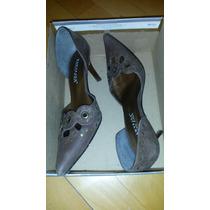 Zapatos De Mujer Marrones - En Punta Y Con Taco Fino