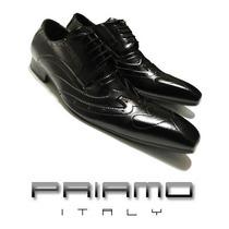 Nuevos ! Zapatos Pespunteados Priamo Italy Hombre [pr002697]
