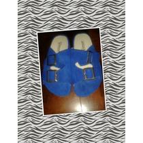 Sandalias Franciscanas Color Azul Con Plataforma