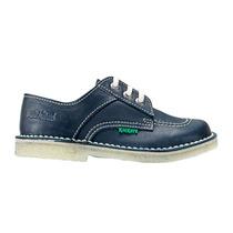 Zapato Para Colegio De Cuero Kickers Acordonado Del 34 Al 40