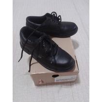 Zapatos Cuero Escolares Hush Puppies Negro Nº 32 Acordonados