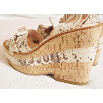 Venta Zapatos Plataforma Marca Sibyl Vane Cuero Y Corcho. 37