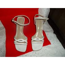 Sandalias Con Tiras Color Blanco Clasicas