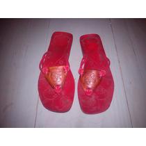 Sandalias Tipo Artesanales Con Tiritas Rojas. Sin Uso!