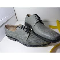 Espectaculares Cueros Zapatos Gris/beige Crema!!! De Fabrica