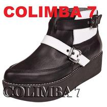 ¡¡ Viamo Botin Zapatos Botas Mod. Flaminia Cuero Nueva N°37