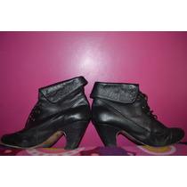 Zapatos Negros Cuero Lucerna