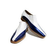 Zapato De Cuero Hombre Punta Cuadrada Italiana