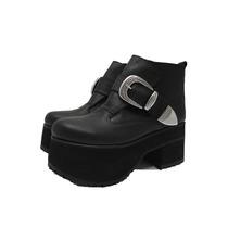 Borcegos Mujer Zapatos Botas Plataforma Camel Paradisea