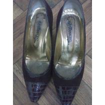 Zapatos Ferraro, Nº 38,cuero, Gamuza,reptil, Hay 3 Pares.