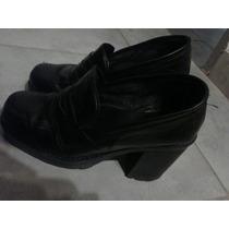 Zapatos Dama Negros N*37,5 Taco Y Plataforma