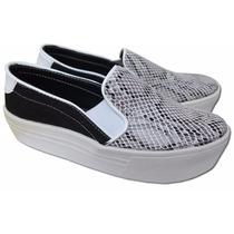 Zapatillas Panchas Negras Con Plataforma Alta Nueva Temporad
