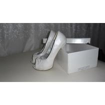 Zapatos De Bodas Blanco Laqueado