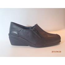 Zapato Taco Chino De Cuero Del 35 Al 42