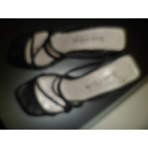 Zapato Sandalia Mujer Taco Chino Viento Y Marea -cuero-t.38
