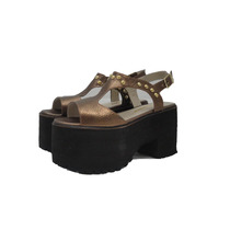 Sandalias Plataforma Mujer Zapatos Cuero Paradisea