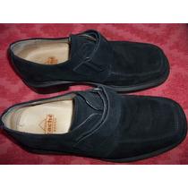 Zapatos Mocasin De Gamuza Negra (n:41).impecables.