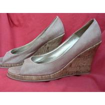 Zapato Sandalia Taco Chino Corcho Impecable Nº 38
