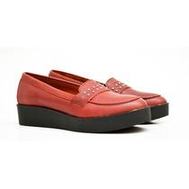 Mocasin Chatita Zapato De Mujer 100% Cuero - Cueros Liberty