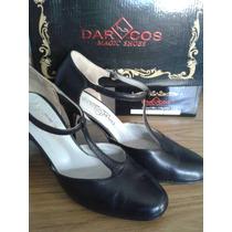 Zapatos De Tango Baile Darcos. Modelo Maria Nº39 Taco 8cm