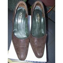Zapatos Saverio Di Ricci. Gamuza Labrada. N° 37. Plataforma