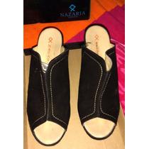 Zapatos Negros Con Plataforma Forrada Nº.38