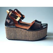 Zapato Mujer Sandalia Plataforma Cuero Charol Verano 2014