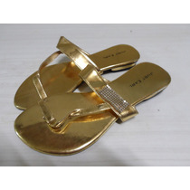 Sandalias Chatas Doradas Exclusivas