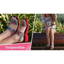 Floripondias Sandalia Aralia Con Suela De Goma