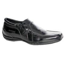 Zapato Punta Cuadrada Cuero Croco Panther (5761)