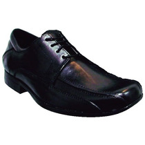 Zapato Punta Cuadrada Con Cordon Panther (7862)