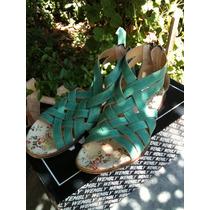 Sandalias De Nena Talle 35 Verde