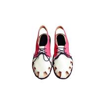 Clippate Zapato Acordonado Abierto Chatas Cuero Envío Gratis