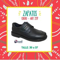 Zapatos Abrojo Colegial De Cuero Marcel - T27 A 40 Art 217