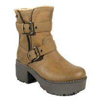 Bota Mujer Invierno 2015 Zapatos Anca Y Co Base Tractor P502
