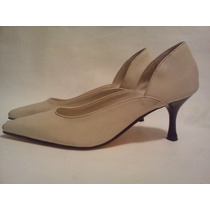 Stiletto Novias - Taco Bajo - Color Beige